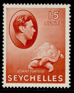 SEYCHELLES GVI SG139ab, 15c brown-red, M MINT. Cat £10.