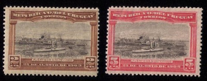 Uraguay Scott #177-178 MH Set Of Two F-VF (1909):