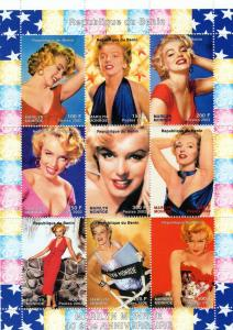 Benin 2002  Marilyn Monroe II 40th.Ann.Death Shlt(9) MNH VF