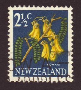 New Zealand 1967 Sc#870 SG#848 2-1/2c Kowhai FU