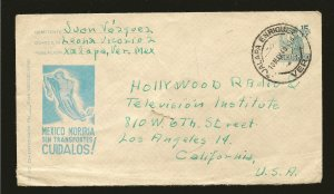 Mexico PM 1949 Pre-stamped Airmail Cover to USA Used