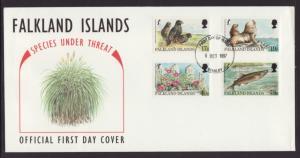 Falkland Islands 686-689 U/A FDC