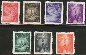 VATICAN Scott C9-15 MNH** 1947 airmail Set CV $45