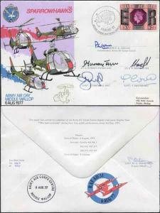 AD31c The Sparrowhawks Army Air Day Middle Wallop Team Signed