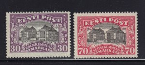 Estonia Scott # 81 - 82 VF OG mint lightly hinged  cv $ 25  ! see pic !