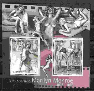 St. Thomas & Prince Island MNH S/S Marilyn Monroe Nude