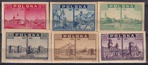 Poland #374-9 MNH CV $7.75 (Z8390)