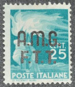 DYNAMITE Stamps: Trieste Scott #1 - UNUSED