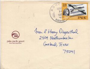 Caroline Islands Palau 22c Shearwater in Flight Audubon Bicentenary 1985 Koro...