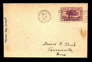 SC# 772 FDC / Single / Typed Cachet - N467