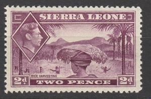 SIERRA LEONE 1938 KGVI RICE HARVESTERS 2D