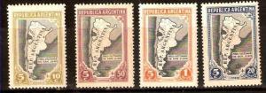 ARGENTINA 1944 MAPS PRO VICTIMS EARTHQUAKE SAN JUAN,GJ912-5 YV438-41 MLH