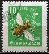 Korea South; 1960: Sc. # 302: O/Used Single Stamp