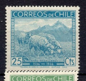 Chile 1936 Anniversary Issue Mint hinged Shade of 25c. NW-12965
