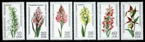Germany GDR 1729-34 MNH Flowers, Orchids