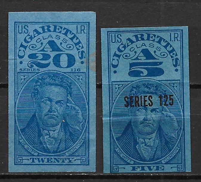 United States Cigarette Pack Tax stamp 2 different (18-500)