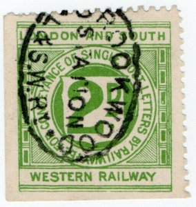(I.B) London & South Western Railway : Letter Stamp 2d (Brookwood)