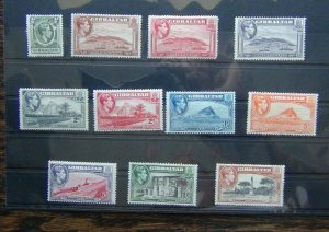 Gibraltar 1938 - 51 to 2s MM (2d Grey Faint crease)