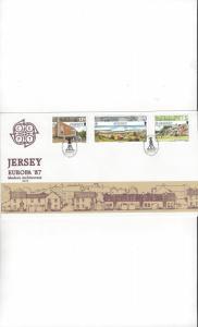 Jersey 423-5 EUROPA 87, FDC Jersey Post Office