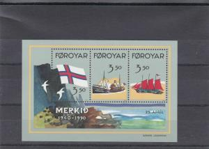 faroe islands mint never hinged  stamps sheet ref r11526