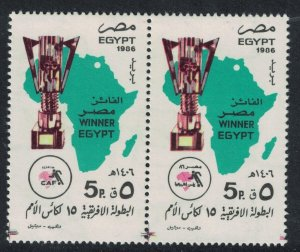 Egypt Victory in African Nations Cup Football Championship 2v Pair 1986 MNH