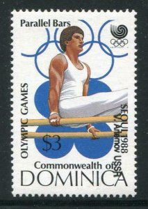 HERRICKSTAMP DOMINICA Sc.# 1154 Olympic Games Stamp Inverted Overprint