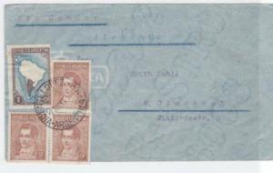 argentina 1937 air mail via condor  stamps cover ref r16129