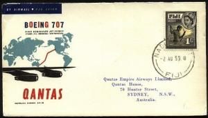 FIJI 1959 Qantas first flight cover to Sydney Australia....................71653