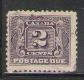 Canada Sc J2a 1924 2c thin paper Postage Due stamp used