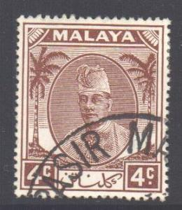 Malaya Kelantan Scott 53 - SG64, 1951 Sultan 4c used