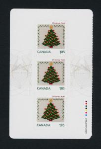 Canada 2691a Left Booklet Pane MNH Christmas Crafts, Christmas Tree