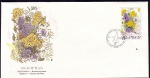 Isle of Man FDC SC# 341 Field Scabius Flower L183