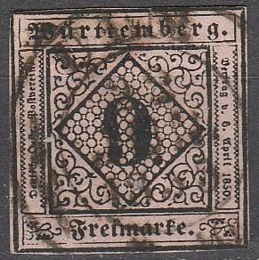 Wurttemberg #5 F-VF Used  CV $95.00  (K1729)