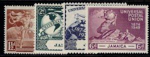 JAMAICA GVI SG145-148, anniversary of UPU set, M MINT.