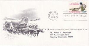 1977, Honoring Wheelwright, PAP, FDC (E12233)