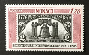 Monaco 1976 #1021,MNH, CV $1.40