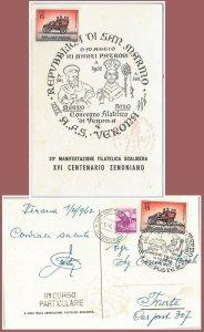64063 - ITALIA Repubblica - STORIA POSTALE:  CARTOLINA speciale 1962  SAN MARINO