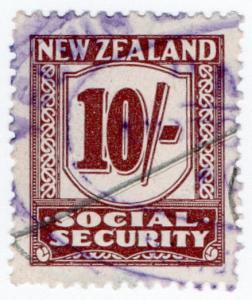 (I.B) New Zealand Revenue : Social Security 10/- (1939)
