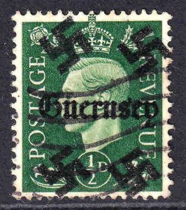 GREAT BRITAIN 1/2p GUERNSEY OVERPRINT USED VF SOUND