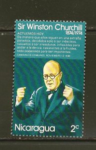 Nicaragua Sir Winston Churchill 1974 Issue MNH