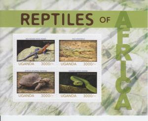 2014 Uganda Reptiles of Africa MS4 (Scott 2109) MNH
