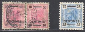 Austria #2 Pair Used and #3 Mint H -- Offices in Crete