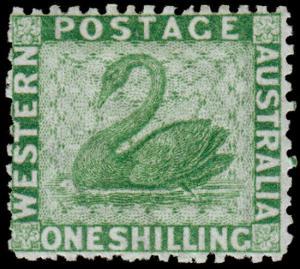 Western Australia Scott 34, Perf. 12.5 (1865) Mint H F CV $200.00 M