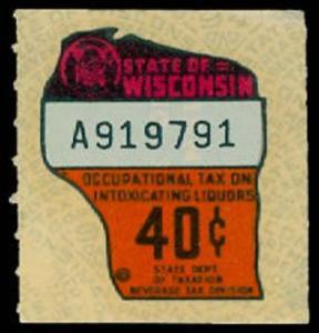 U.S. WISCONSIN ST. REVS L101  Mint (ID # 30096)