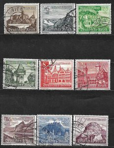 COLLECTION LOT OF 9 GERMANY SEMI POSTAL 1939 COMPLETE SET (B160-8) CV + $21