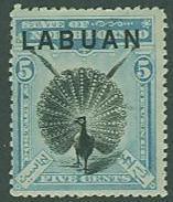 Labuan SC#77 Argus Pheasant, 5c, MH