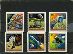 BURUNDI 1972 Sc#379-384 SPACE RESEARCH SET OF 6 STAMPS MNH