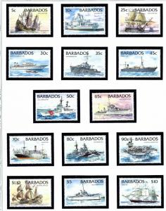 Barbados 872-85 MNH 1994 Ships