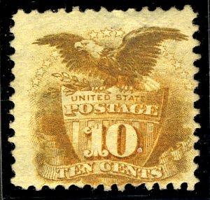 US #116 SCV $1850.00 Fine mint lightly hinged, super centering,  Fresh Color,...