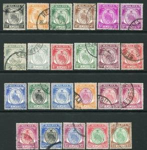 NEGRI SEMBILAN-1949-55 Set to $5 Including additional shades of 5c & 6c  V19922